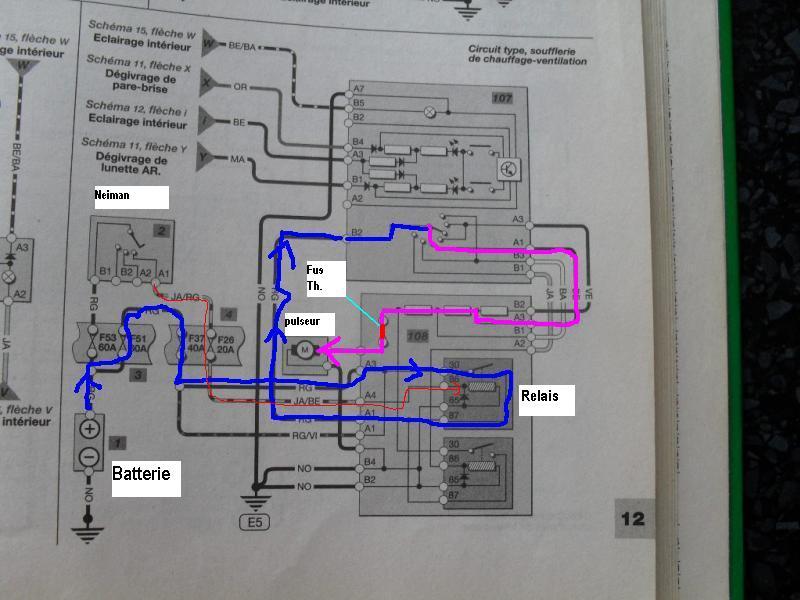 Schema electrique chauffage laguna 2