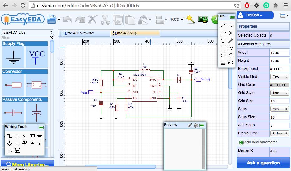 Faire schema circuit electrique en ligne
