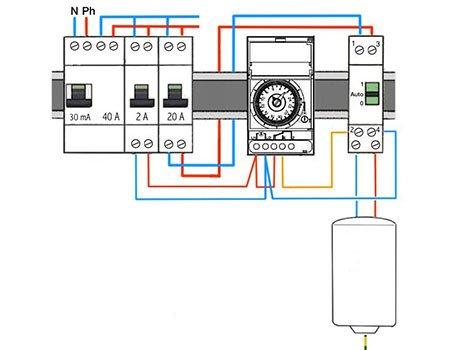 Schema electrique interrupteur horaire
