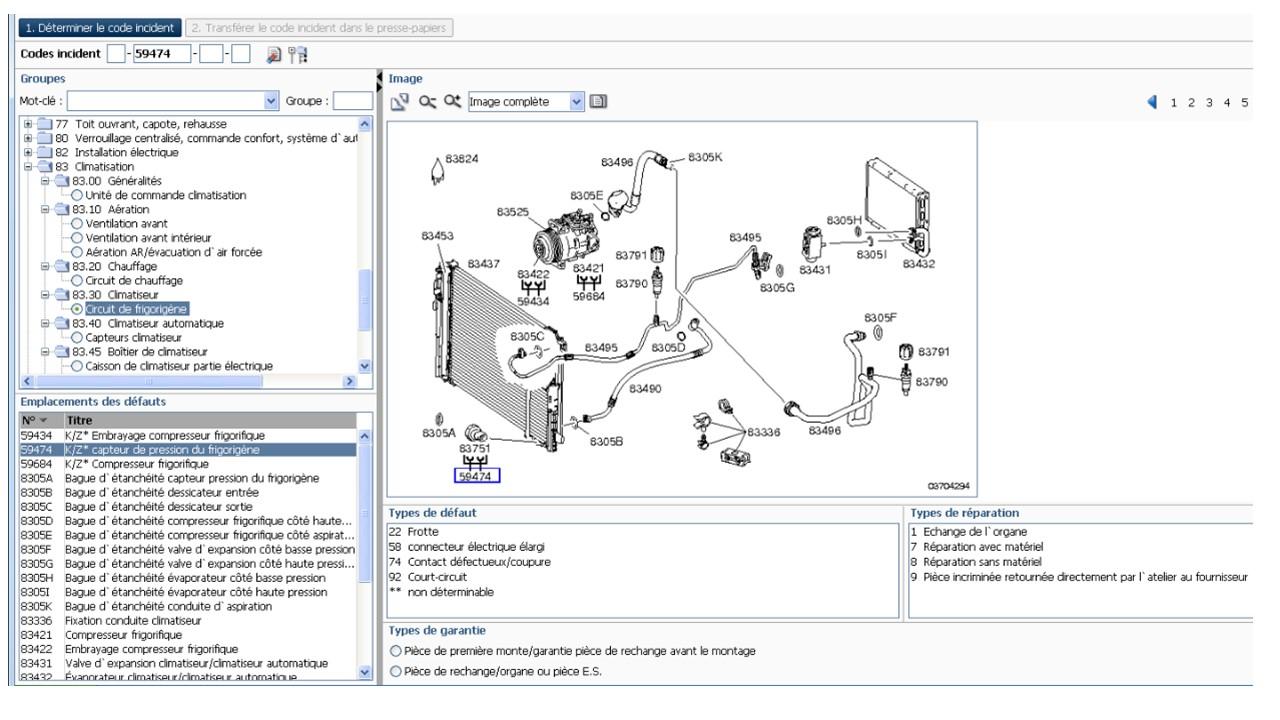 emplacement-capteur-pression-clim-W204 Audi Kline Wiring Diagram on