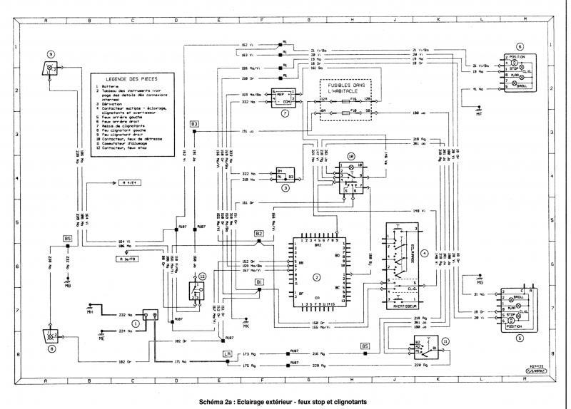Schema electrique feu stop clio 2