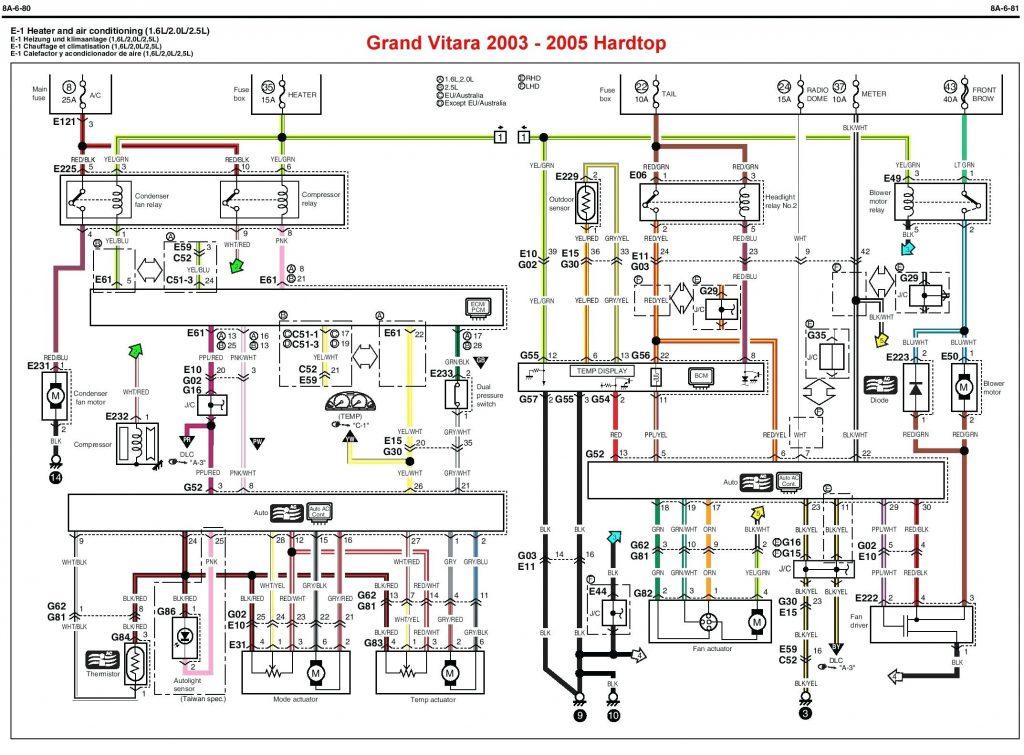 Schema Electrique Suzuki Grand Vitara 2002