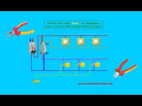 Schema electrique de telerupteur