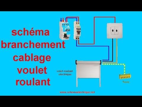 Schema branchement volet roulant électrique somfy
