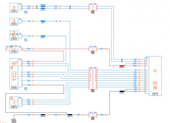 Schema electrique radar de recul megane3
