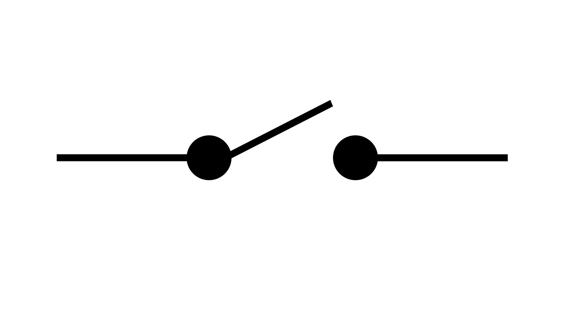 Schéma circuit électrique ouvert