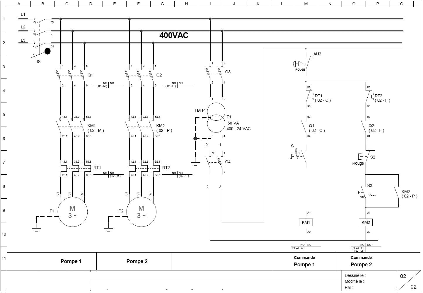 Schéma électrique pompe à chaleur