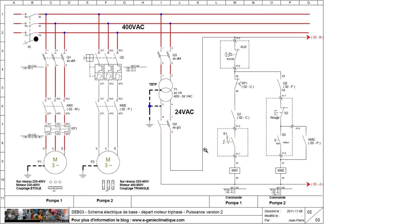 Schema electrique moteur 2 vitesses