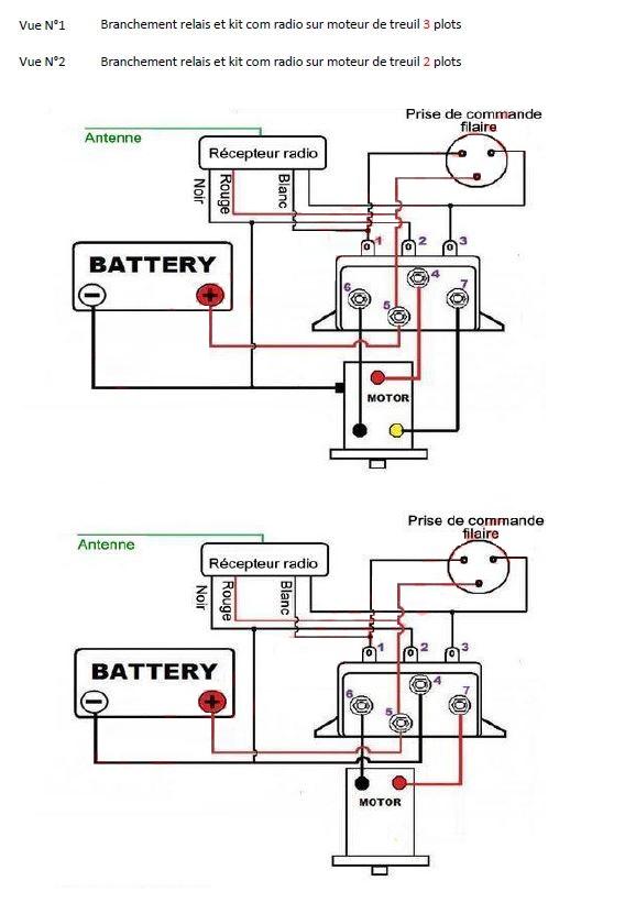 Schema electrique treuil