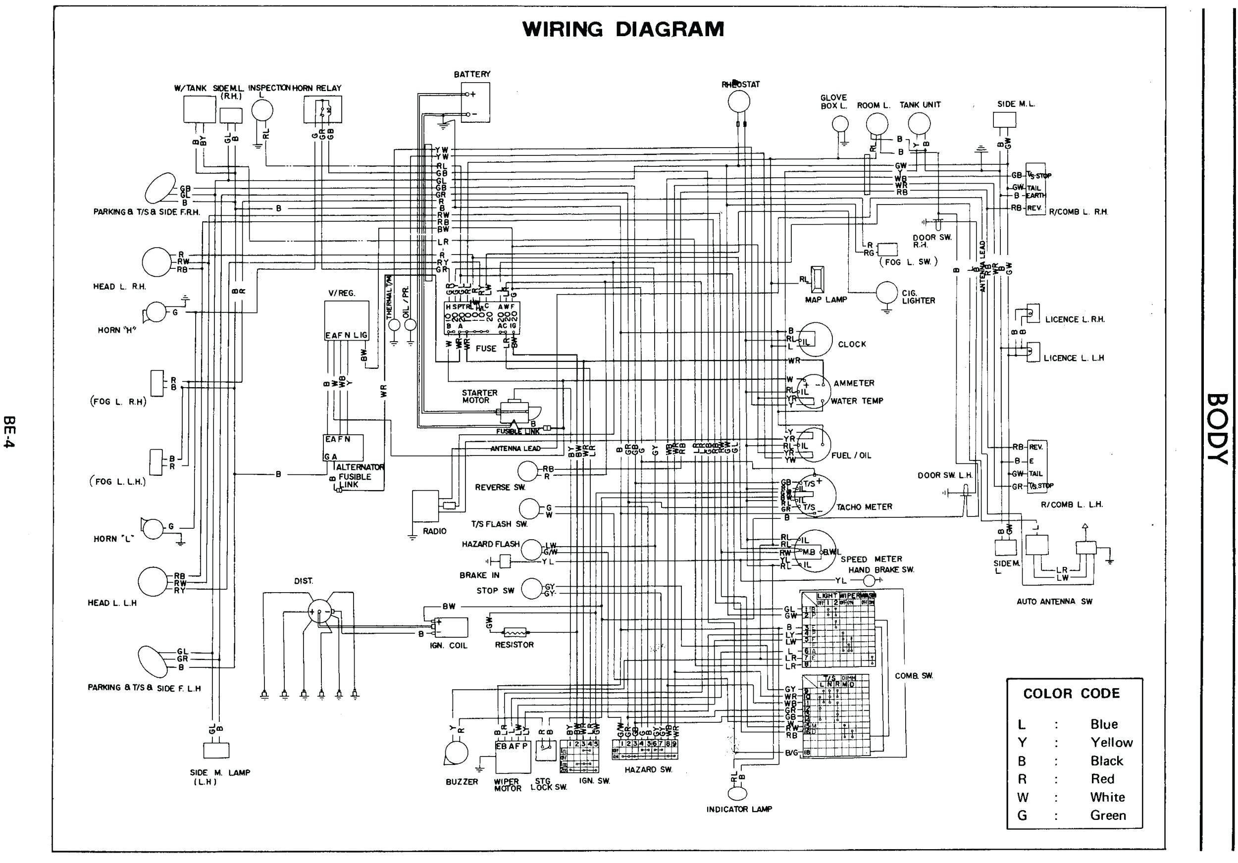 Schema Electrique Austin Mini 1984