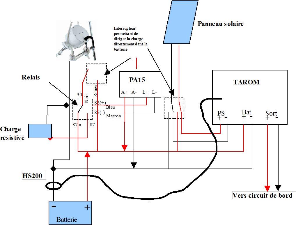 Schema electrique regulateur de charge
