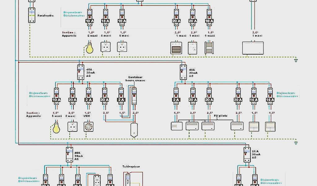 Schema normes electrique maison 163m2