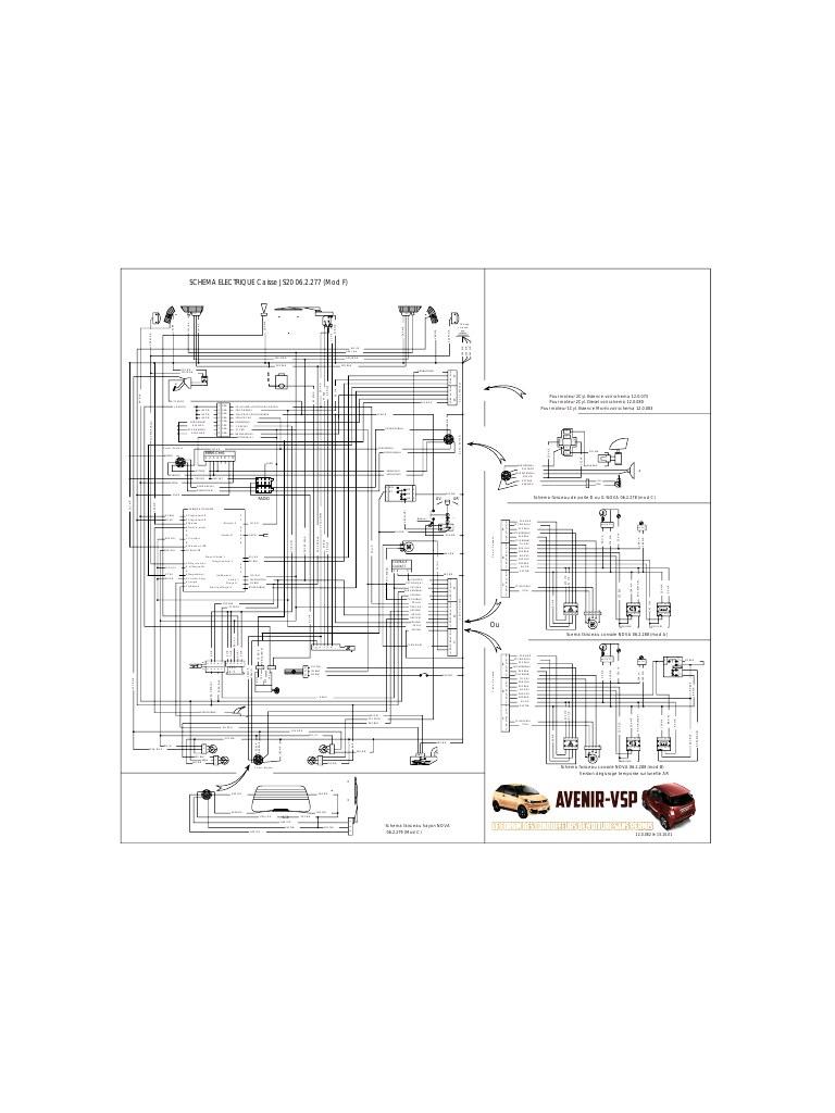 schema electrique moteur 307