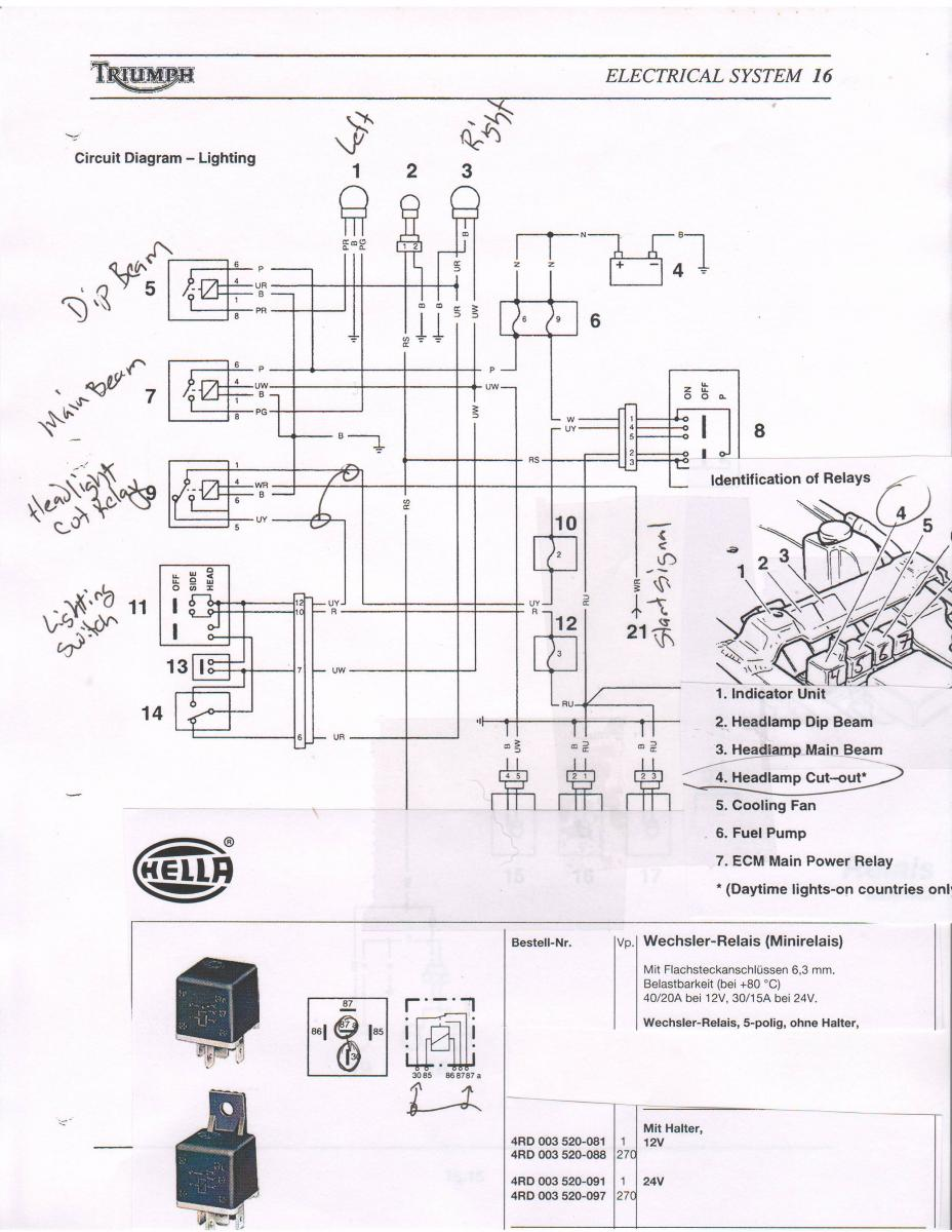 schema electrique 955i