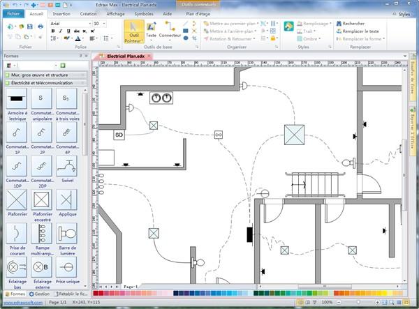 Dessiner un schema electrique maison