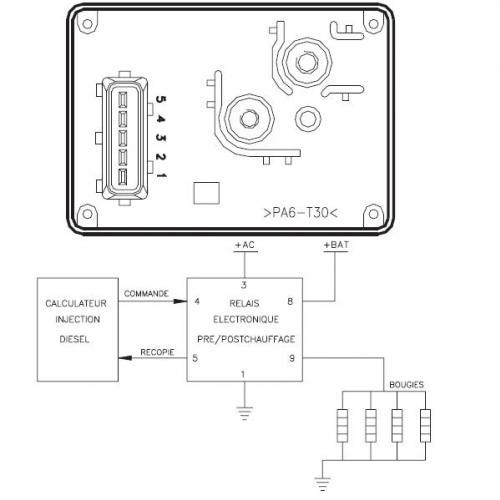 schema electrique boitier prechauffage 307 hdi