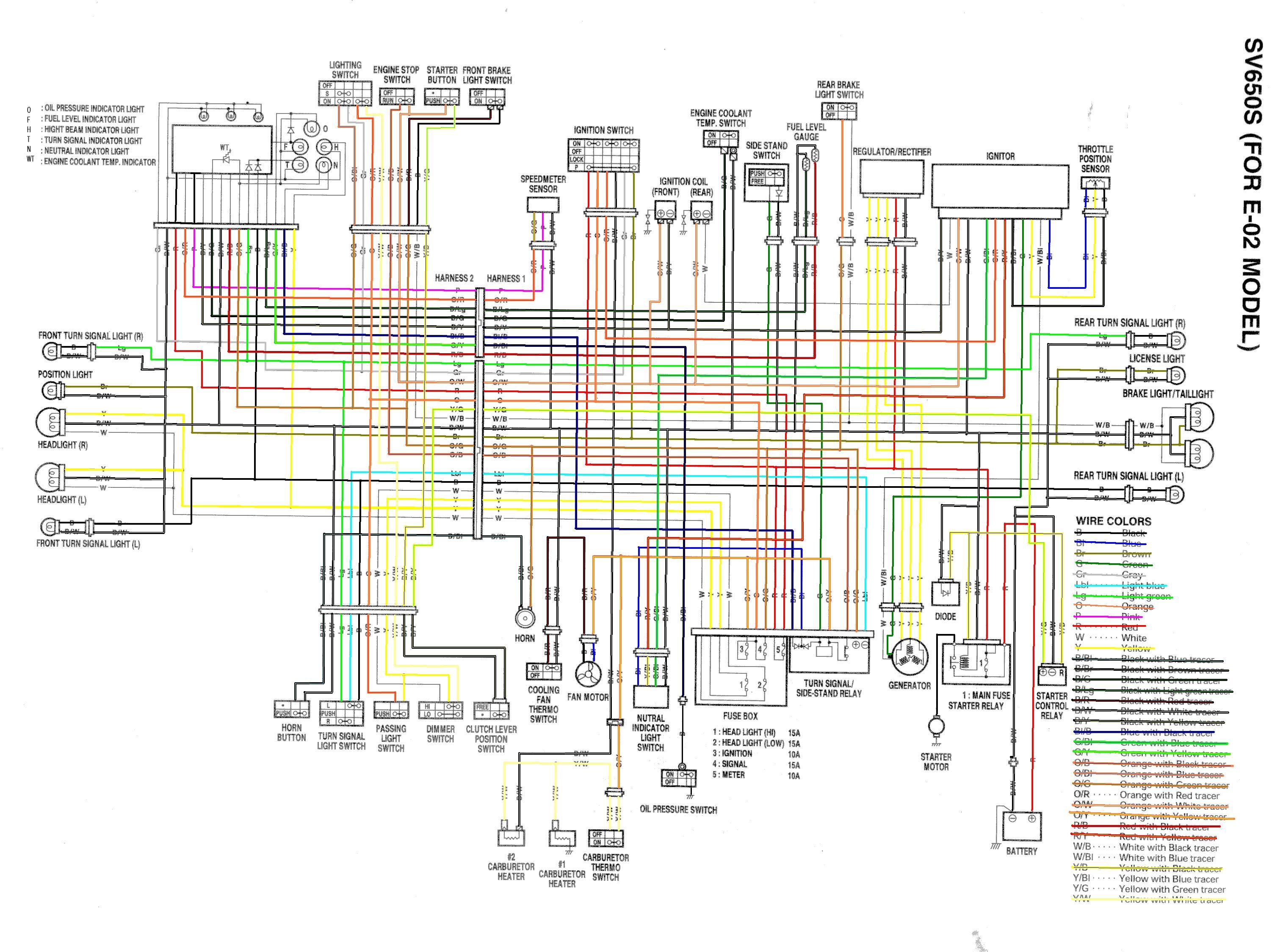 Schema electrique sv 650 k7