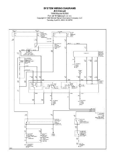 Schema electrique mazda 5