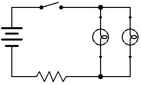 Schéma circuit électrique en parallèle