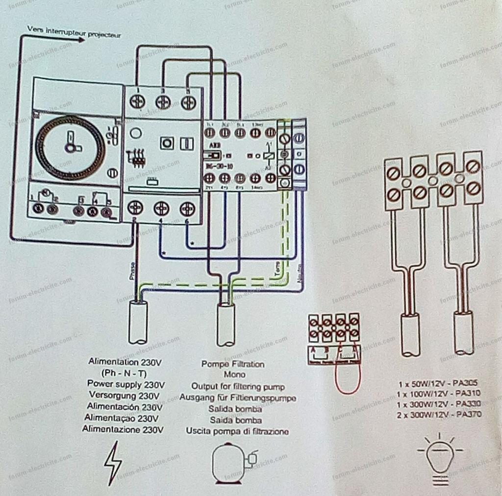 Schema tableau electrique pompe immergée