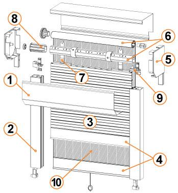 schema mecanisme volet roulant electrique bois eco. Black Bedroom Furniture Sets. Home Design Ideas