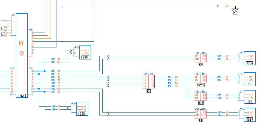 Schema electrique rs1