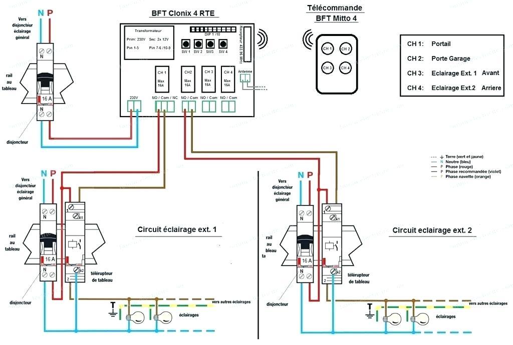 Schema electrique porte sectionnelle