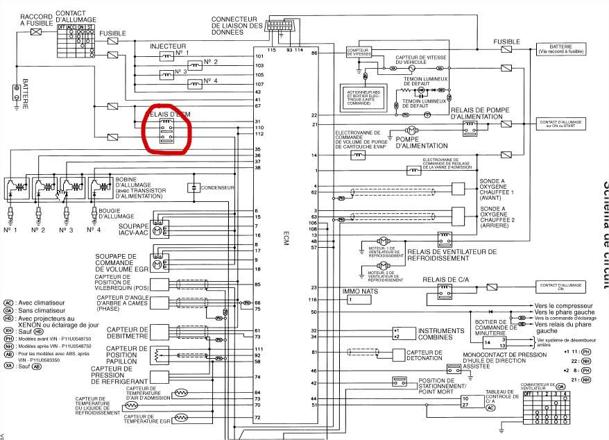 schema electrique nissan micra