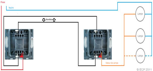 Schema electrique interrupteur aller retour