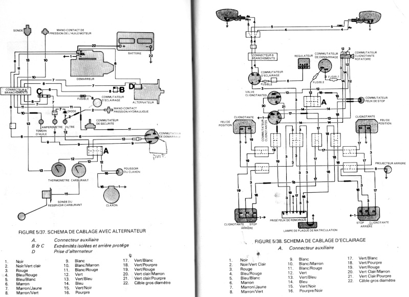 schema electrique tracteur david brown