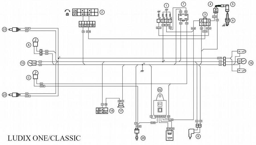 Baotian schema electrique