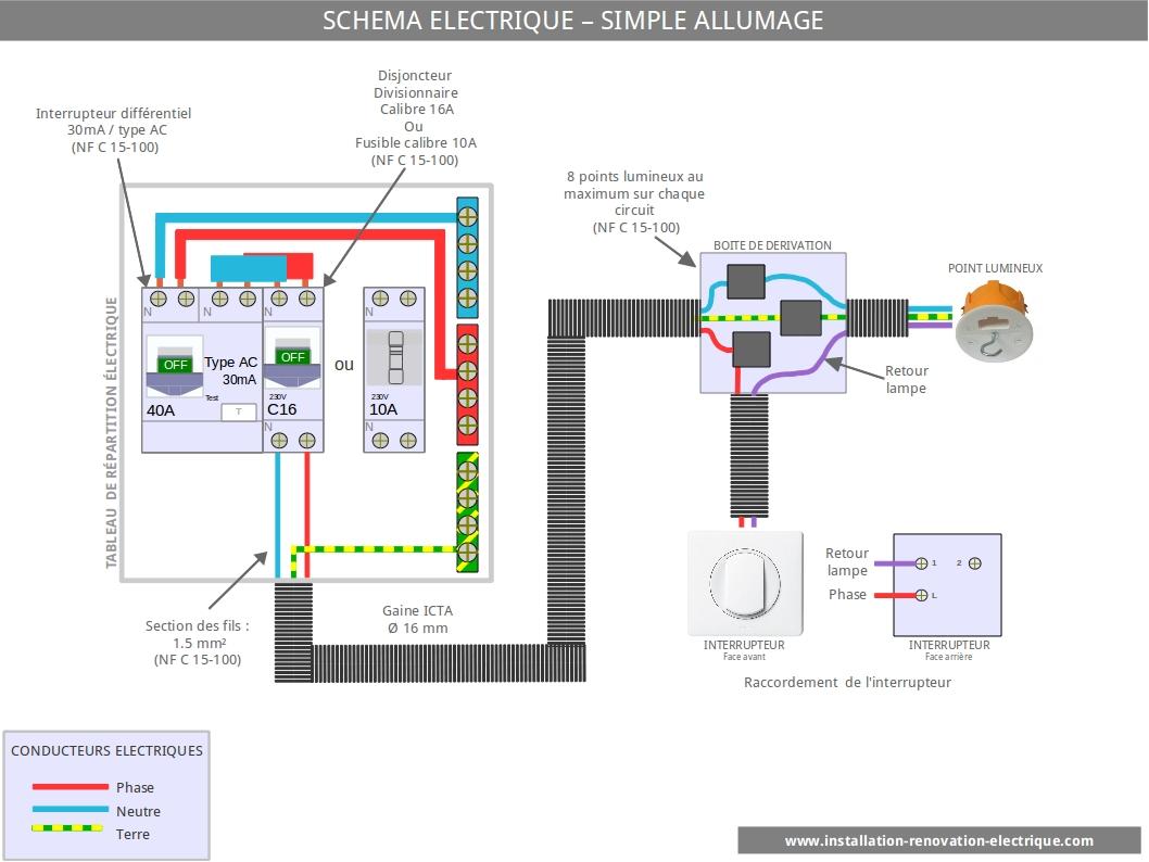 Schema electrique interrupteur infrarouge