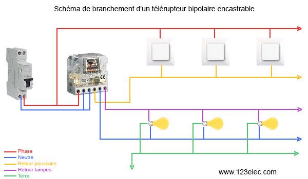 Schema electrique pour telerupteur