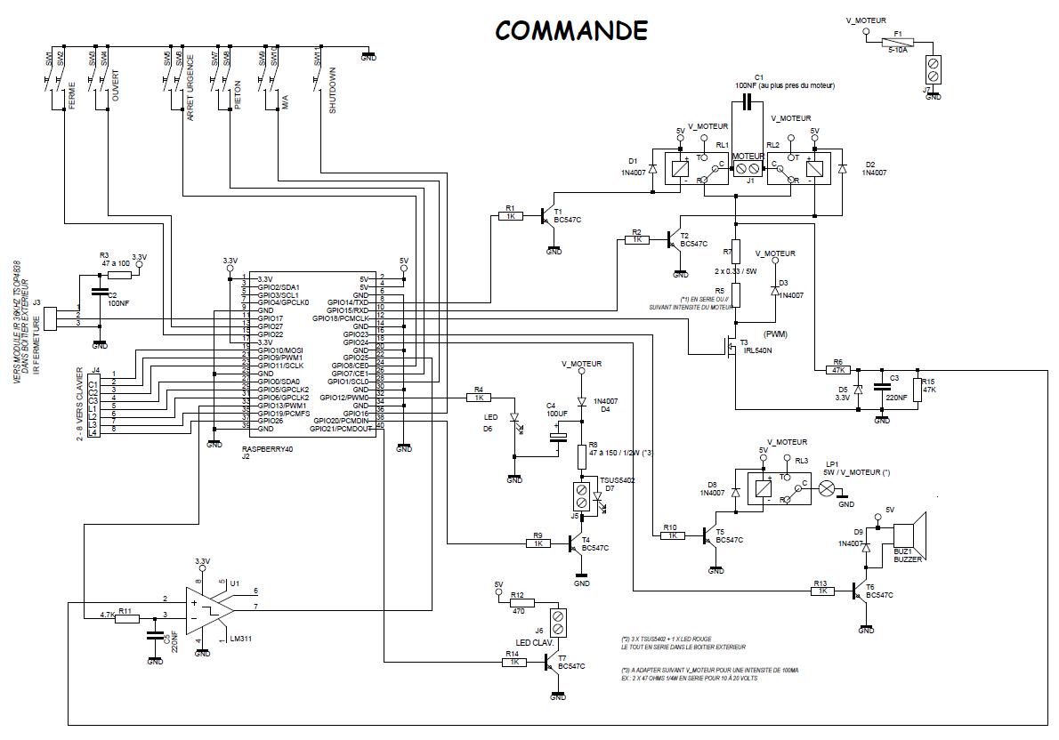Schema electrique verin