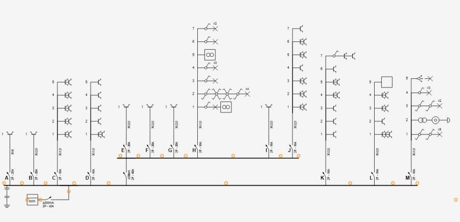 Logiciel pour schema electrique unifilaire
