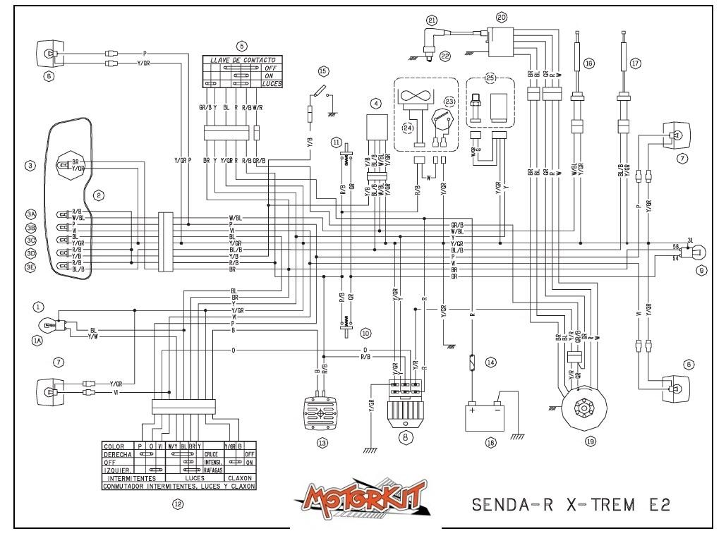 schema electrique clignotant derbi