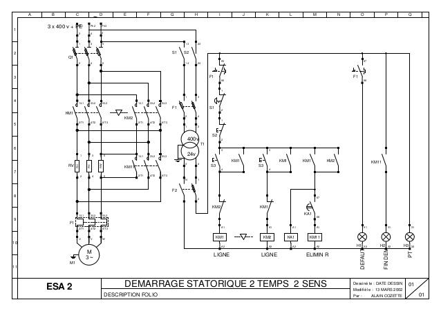 schema electrique moteur 2 sens de marche