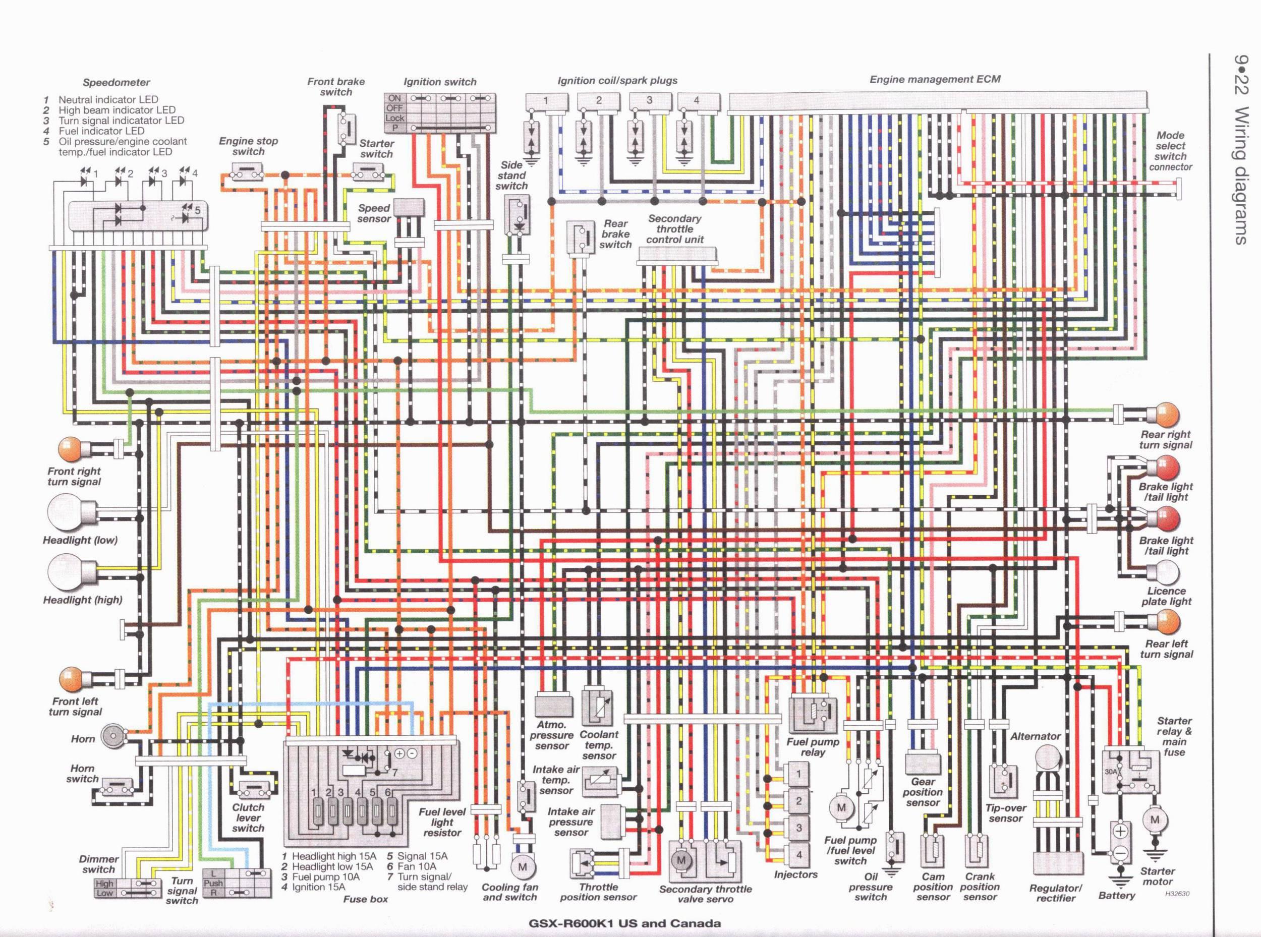 Schema electrique gsxr 1000 k8