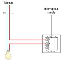 Schema electrique un interrupteur