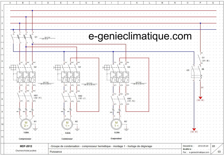 Schéma industriel electrique