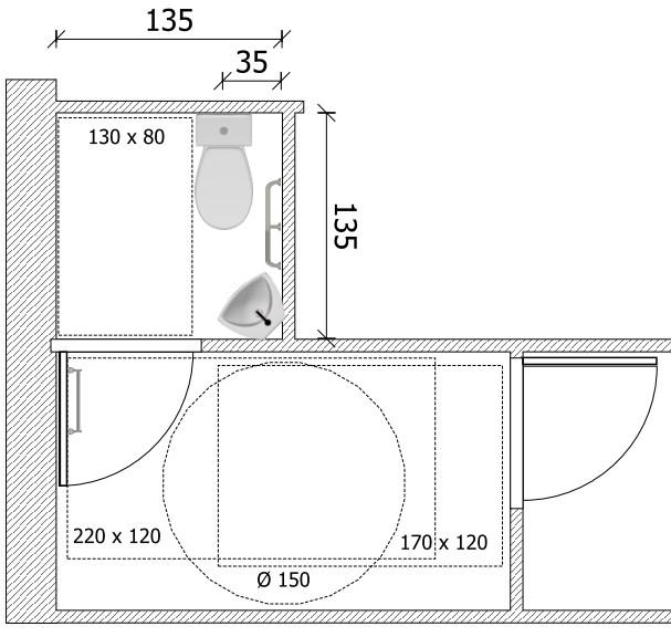 Norme electrique wc pmr bois eco - Norme porte de garage collective ...