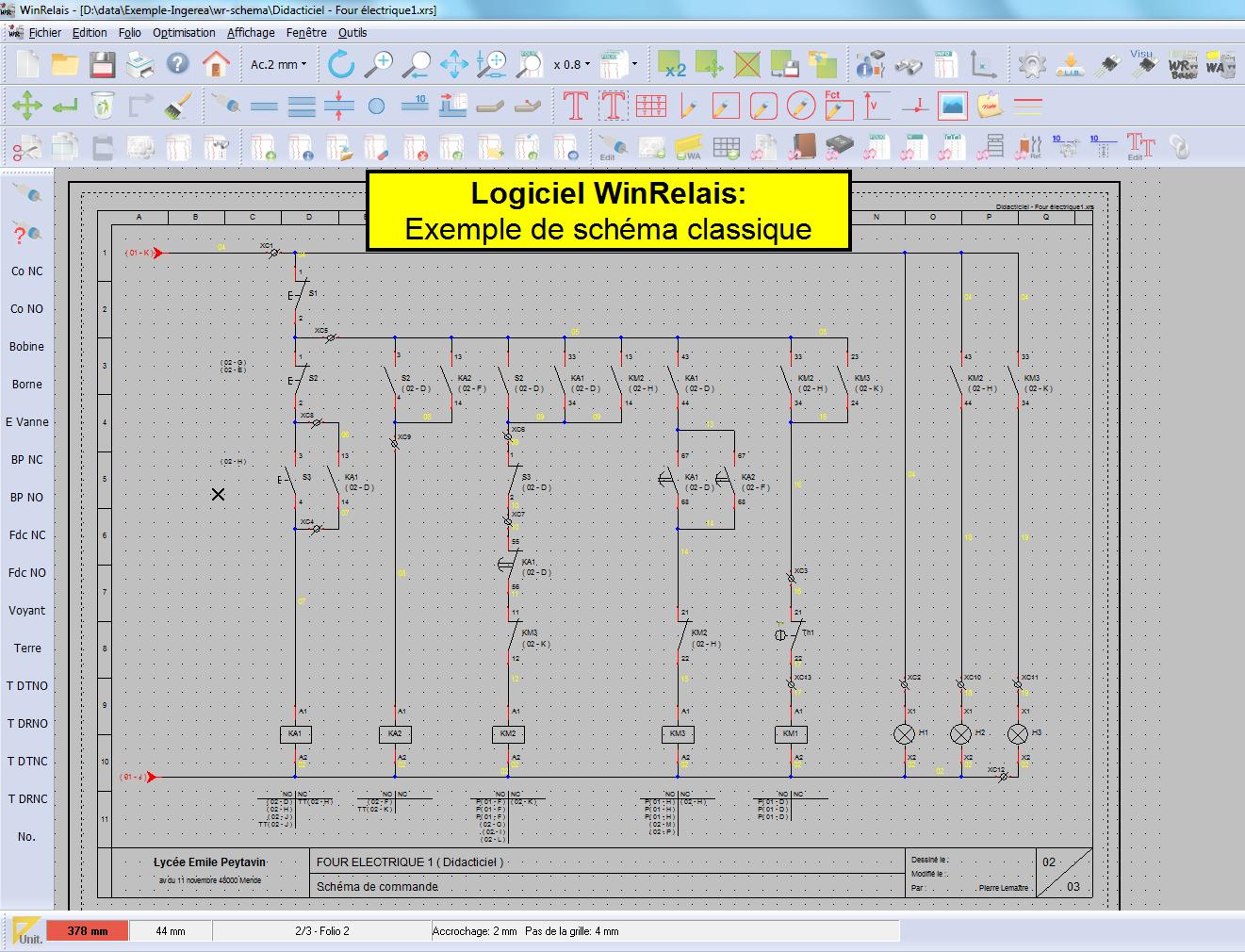 Logiciel creer schema electrique