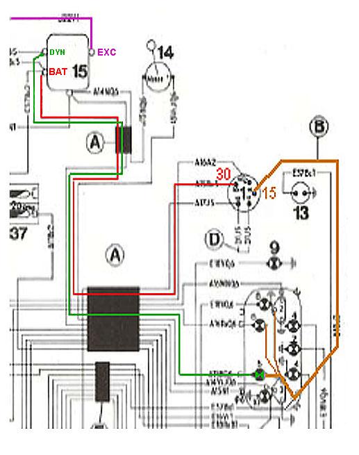 Schema electrique tracteur renault 651