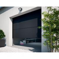 Porte de garage sectionnelle à cassettes dublin grise