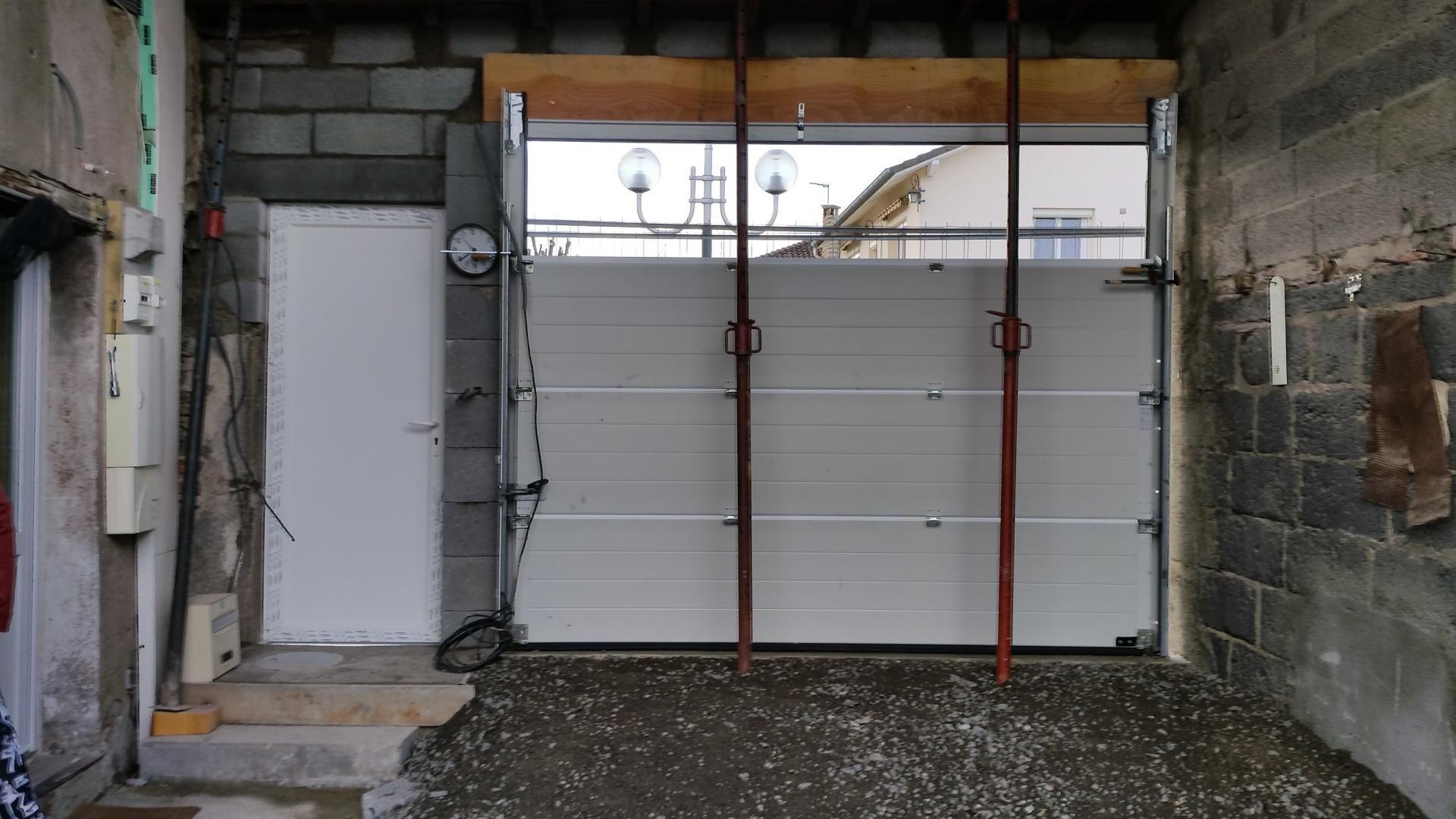 Maconnerie garage porte