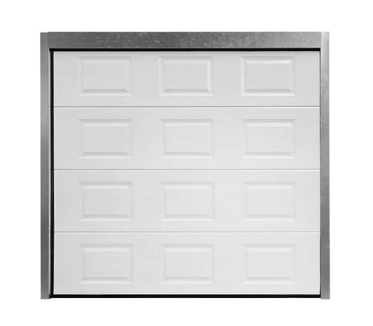 Porte de garage sectionnelle motorisée à cassettes paris blanche