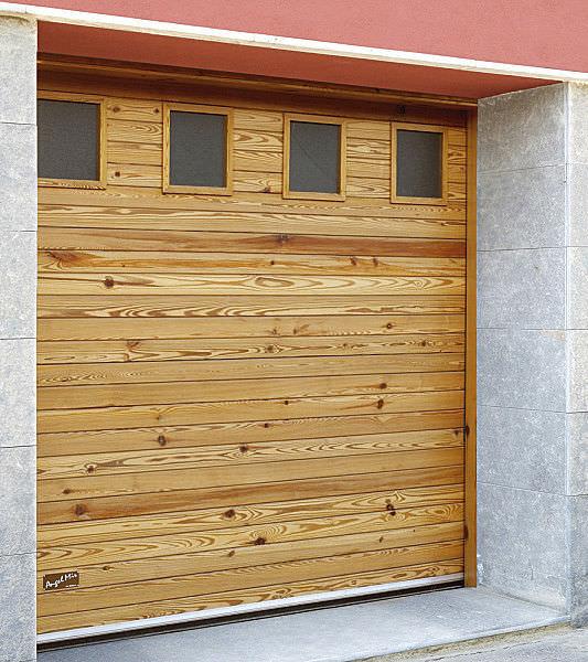 Porte de garage sectionnelle en bois prix
