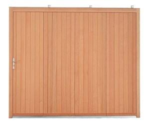 Porte de garage sectionnelle bois massif