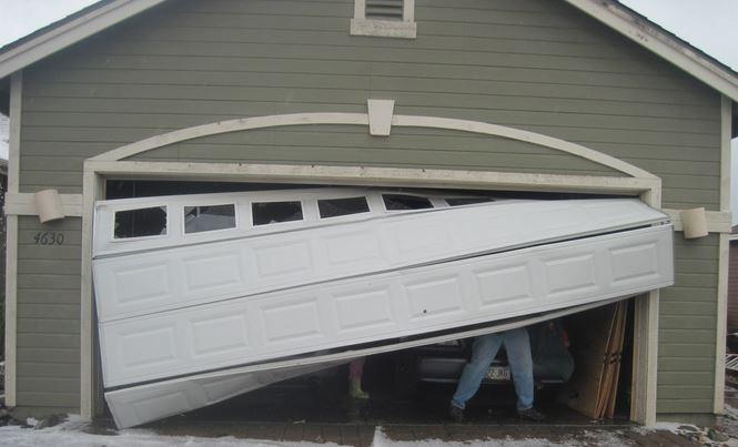 Support porte de garage