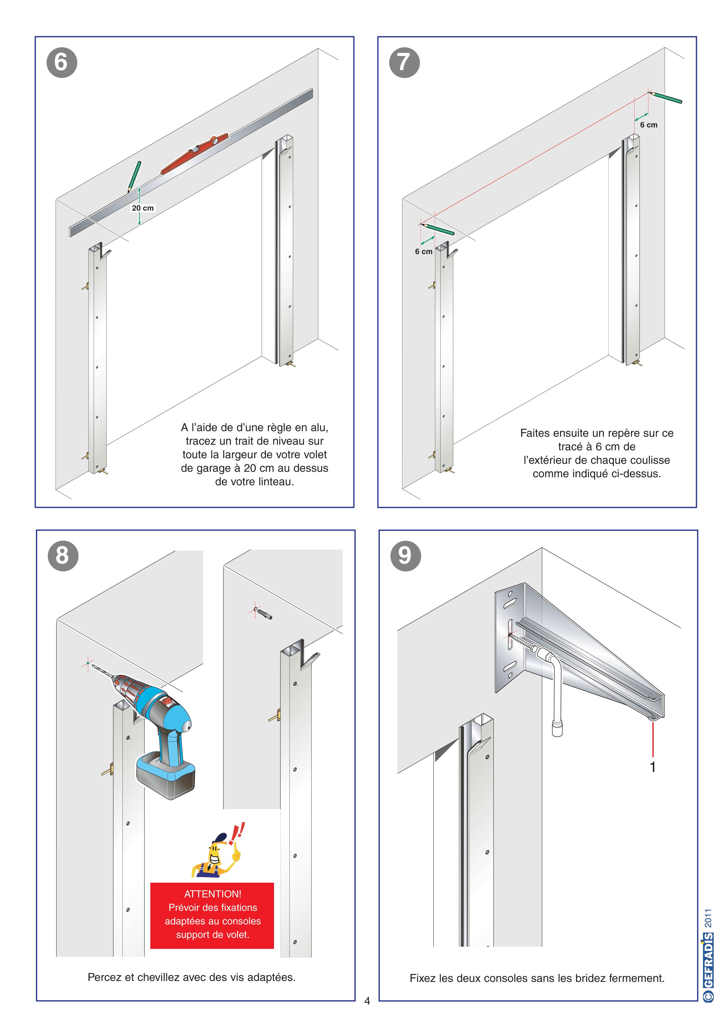 Porte de garage enroulable sans coffre